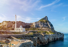 Europa Point And Ibrahim-al-Ibrahim Mosque In Gibraltar
