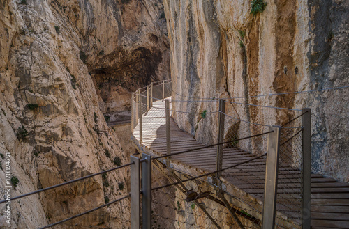 The walkway El Caminito del Rey (The King's Little Path) Canvas Print