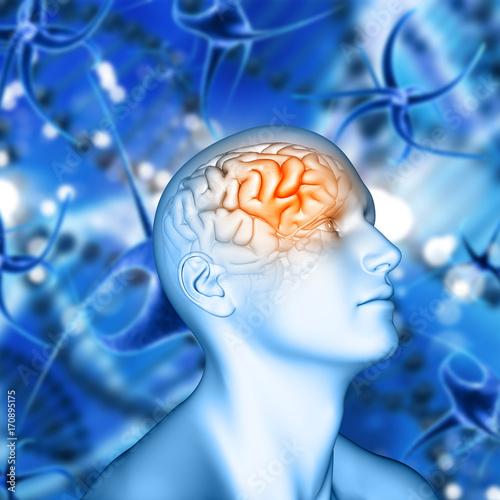 3d-meska-postac-z-mozg-podkreslajacym-na-wirusowym-komorki-tle