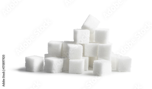 Obraz na plátně  Sugar cubes isolated on white background