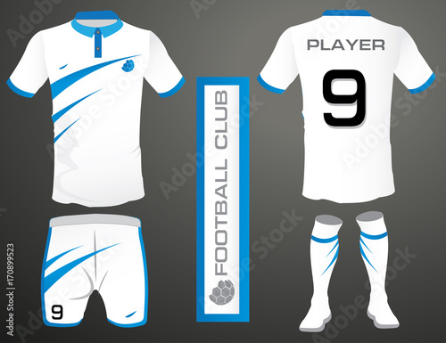 Set of soccer kit or football jersey template for football club ... f75901ebd