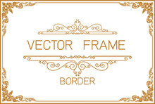 Gold Border Design, Frame Phot...