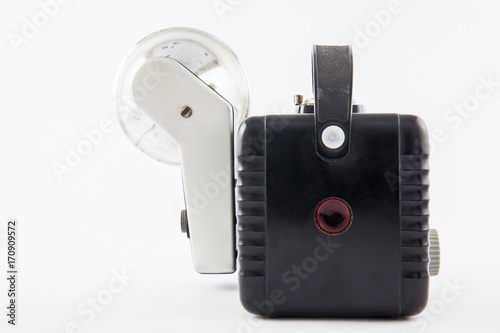 Antique camera isolated on white background Wallpaper Mural