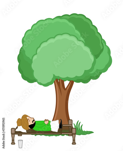 Cartoon Desi Man Sleeping Under The Tree Buy This Stock Vector And Explore Similar Vectors At Adobe Stock Adobe Stock The movie stars marcella zailanty, nadia saphira, and ayu laksmi as the three women in their respective stories in the movie. cartoon desi man sleeping under the