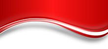 Welle Band Banner Hintergrund Rot Weiß Wellen Textfreiraum