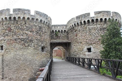 Poster Vestingwerk ベオグラード 要塞/ベオグラード要塞はサバ川とドナウ河の合流点を見下ろす小高い丘の上に建てられたベオグラードの歴史博物館。ベオグラードで最も大きく最も美しい公園として観光客からも人気が高く、要塞の頂上からは美しいベオグラードの景色を一望できます。