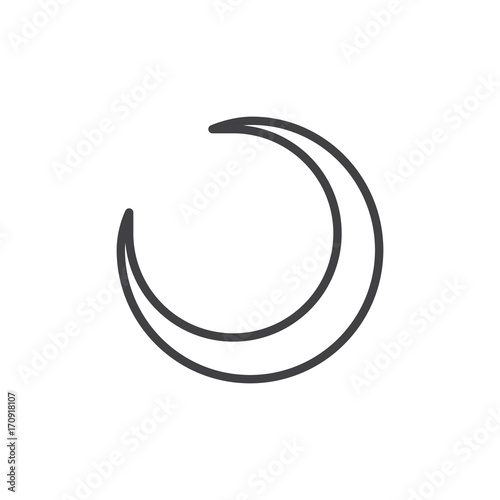 crescent moon line icon outline vector sign linear style pictogram isolated on white astrology symbol logo illustration editable stroke buy this stock vector and explore similar vectors at adobe stock crescent moon line icon outline vector