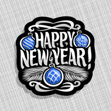 Vector Logo For New Year: Sign...