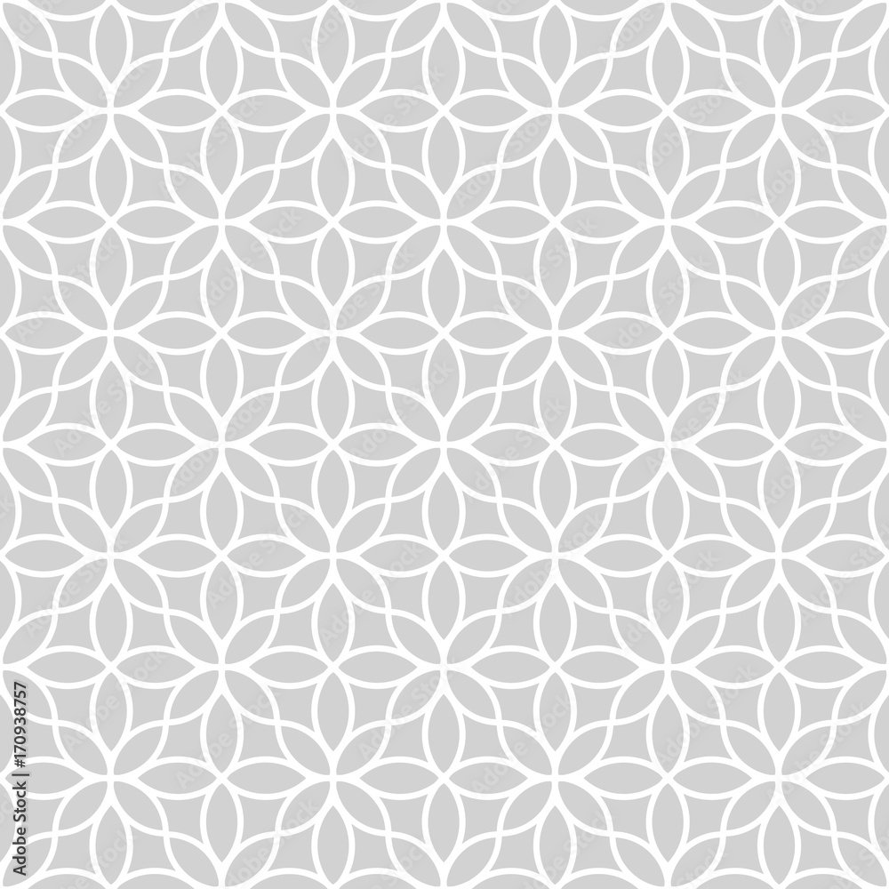Seamless abstract floral pattern in oriental style