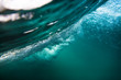 canvas print picture - Wave underwater. Crashing wave in tropical sea