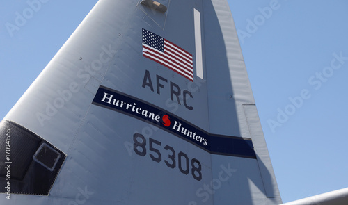 USAF WC-130J Super Hercules tail seen at Keesler Air Force