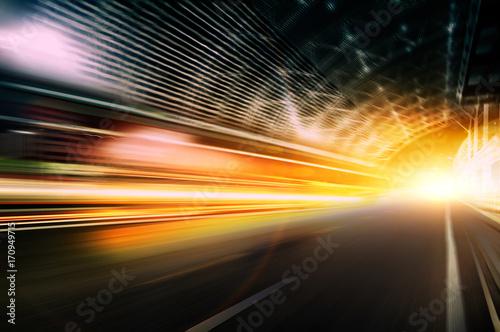 Plakat Prędkość samochodu, dynamiczne tło