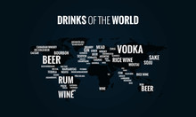 Drinks Of The World Vector Map For Social Media  Funny Alcohol Idea