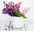 lupines in the vase