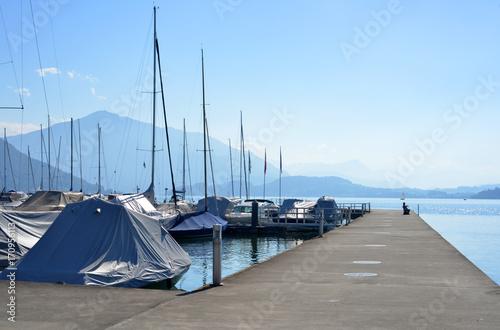 Plakat Port w Zuger See w Szwajcarii