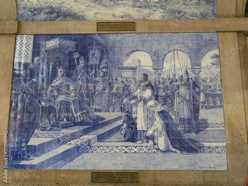 Canvas Prints Artistic monument Fliesen Porto