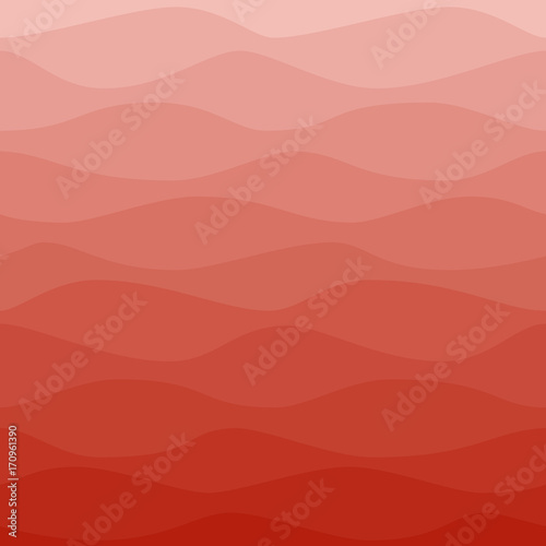 Gradual wavy red background Wallpaper Mural