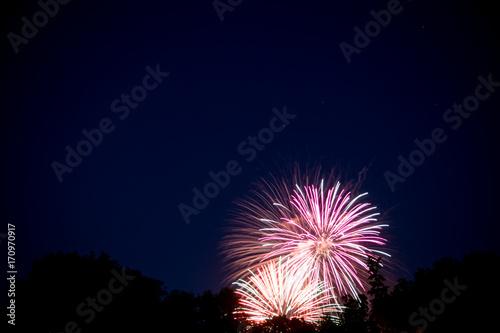 Poster Pleine lune cluster fireworks