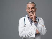 Smiling Confident Doctor Portr...