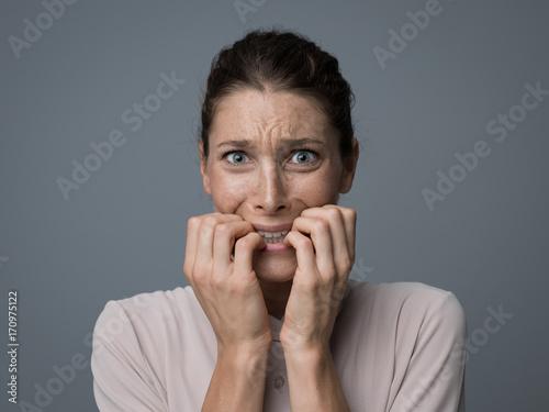 Fotografía  Terrified woman portrait