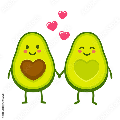 Foto Love avocado couple