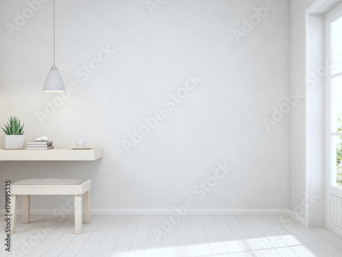 home office work room furniture scandinavian. Indoor Plant And Coffee Cup On Wooden Working Table With Empty White Concrete Wall Background, Home Office Work Room Furniture Scandinavian R