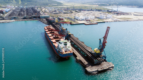 ship under load at a coal