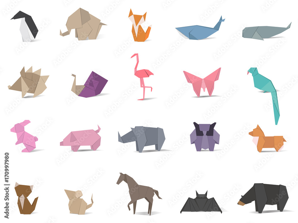 Fototapeta Animal origami vector