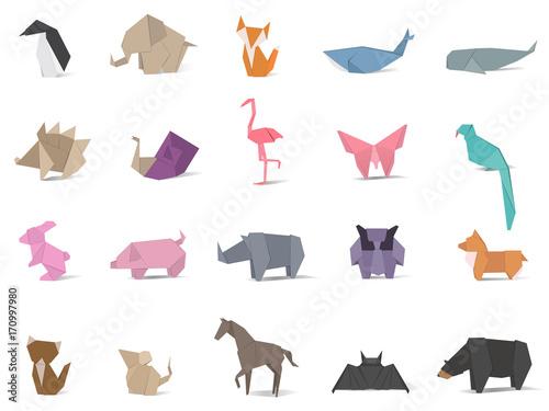 Photo Animal origami vector