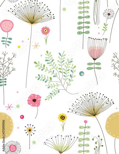 Fotografía  flower pattern vector 04