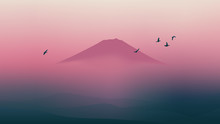 Scenic Fuji Mountain Of Japan ...