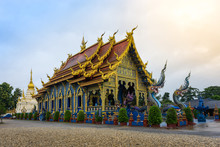 Blue Temple Or Wat Rong Sua Ten In Chiang Rai Province, Thailand