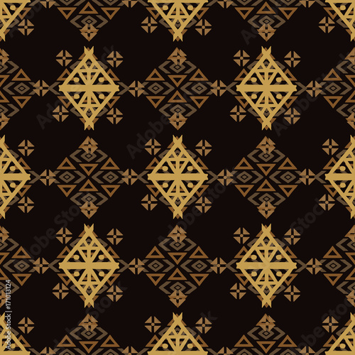 Aztec tribal art seamless pattern - Buy this stock vector and