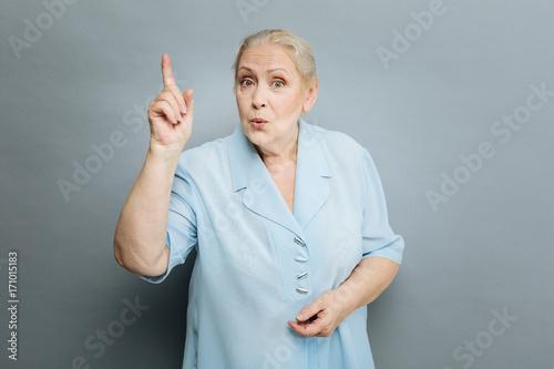 Fotografie, Obraz  Attractive senior woman having idea