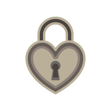 Heart Lock Love Padlock Key Ve...