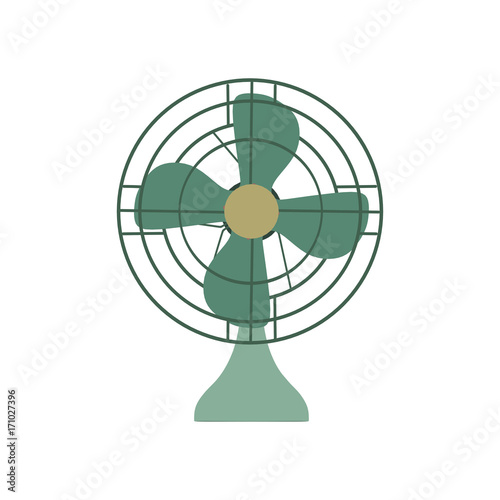 Vector Fan Green Electric Front View Design Style Circle Symbol
