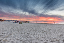 Sonnenuntergang Gordon Beach Tel Aviv