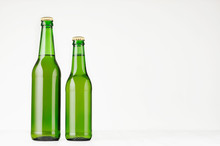Set Of Two Green Longneck Beer...