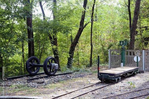 Fotografia, Obraz  Small tourist train between Sainte Cecile d'Andorge and Saint Julien des Ponts