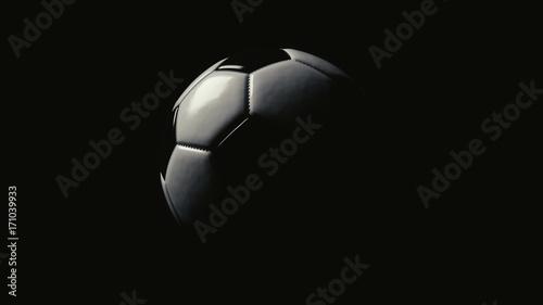 Photo  Fußball im Halbdunkel