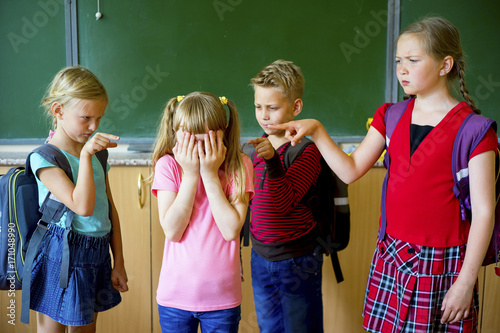 Kids bully at school Wallpaper Mural