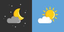 Nacht Und Tag Mond Und Sonne