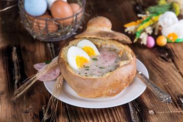 Typical Polish soup