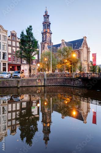 Keuken foto achterwand Havana Westerkerk Church, Amsterdam Canals, Netherlands, Holland, Europe