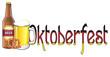 oktoberfest, beer, alcohol, drink, bottle, glass, festival, holiday, food, october, autumn, isolated, cartoon, snack, pretzel, cracker, many, letters