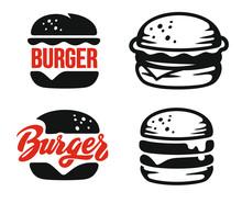 Burger Logo Emblem