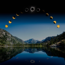 Phases Of Solar Eclipse Over L...