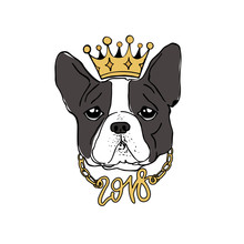 King Of The New Year. Vector F...