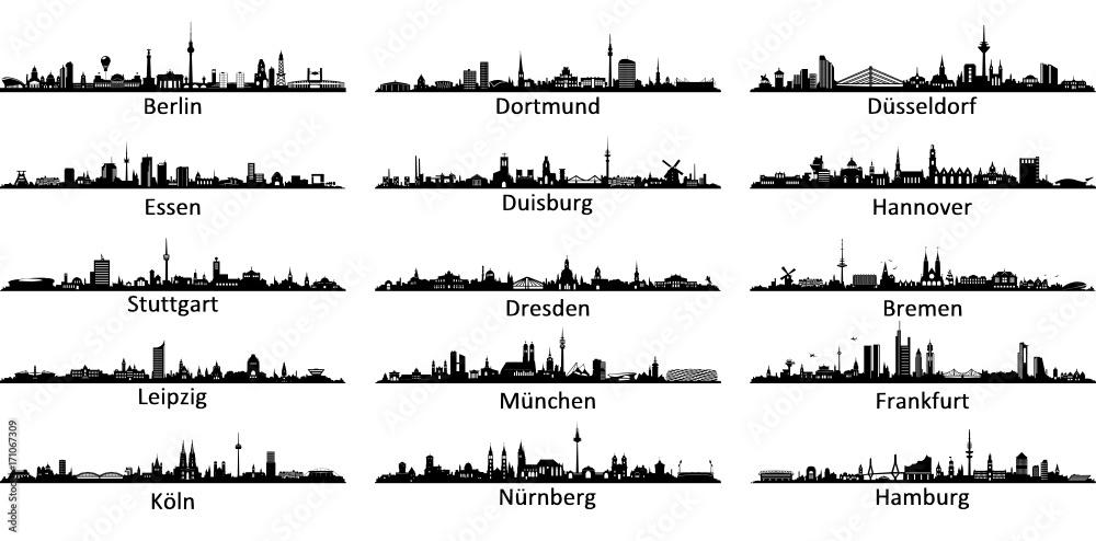 Fototapety, obrazy: Skylines Germany