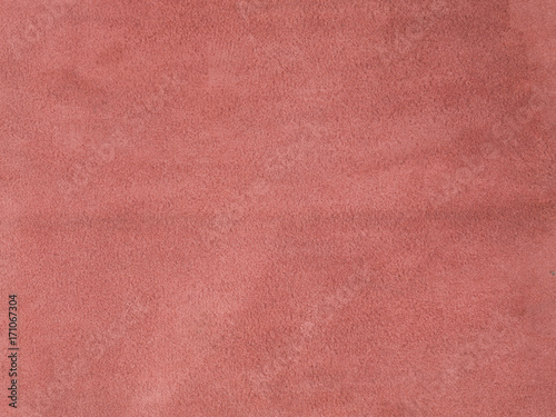 Natural, real light red suede texture Canvas Print